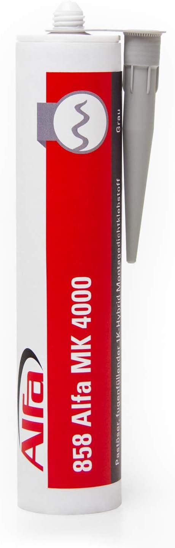 fugenf/üllend 1x 1K-Hybrid Montagedichtklebstoff past/ös 430g grau