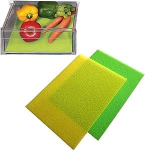 MUNKCARE Fruit & Veggie Life Extender Liner for Refrigerator Drawers Liner Foam Fridge Drawer Shelf Mat Extends Life of Produce 16x12 inch 4 pcs