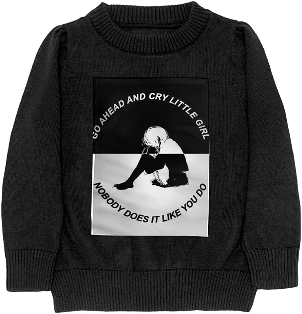 DTMN7 Girl Black and White Teens Sweater Long Sleeves Crew-Neck Youth Athletic Casual Tee Junior Boys