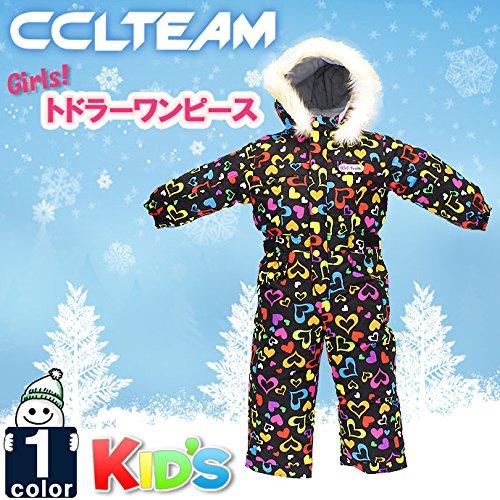 (CCLTEAM)ガールズトドラースキーワンピース36553601511キッズ子供子ども(01)BLACK100