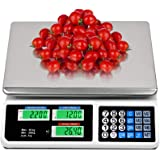 EASIGO 88LB Digital Price Scale Electronic Price Computing Scale LCD Digital Commercial Food Meat Weight Scale, Upgraded…