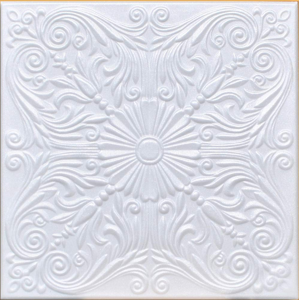 50pc of Astana White (20''x20'' Foam) Ceiling Tiles - Covers About 135sqft by Antique Ceilings