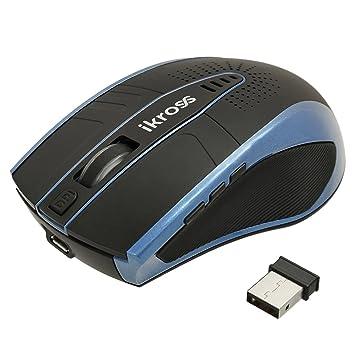 iKross Ratón pequeño inalámbrico 2.4GHz, Azul para Ordenador Portátil, como Acer HP ASUS Levono Sony Toshiba y otros.: Amazon.es: Electrónica