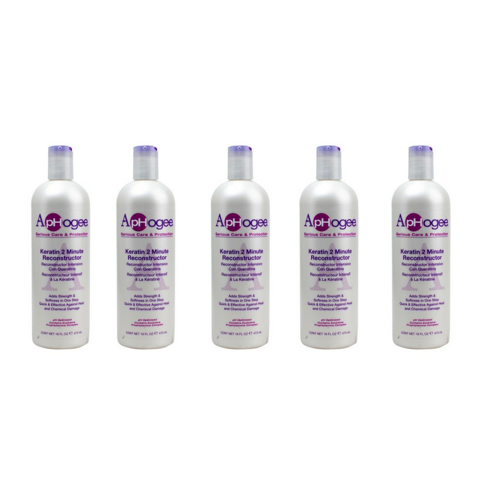 ApHogee Intensive Two Minute Keratin Reconstructor (16 OZ.) by Aphogee (5 bottles)
