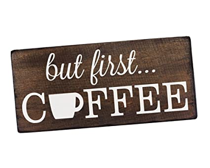 Amazon.com: Elegant Signs But First Coffee Wall Decor Decoration
