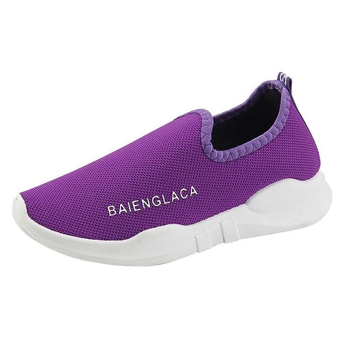 Zapatos de Cordones para Mujer Conducción Zapatillas Cuero Casual Shoes BBestseller Sneakers Running Zapatos Púrpura, negro, gris, rojo 36-40: Amazon.es: ...