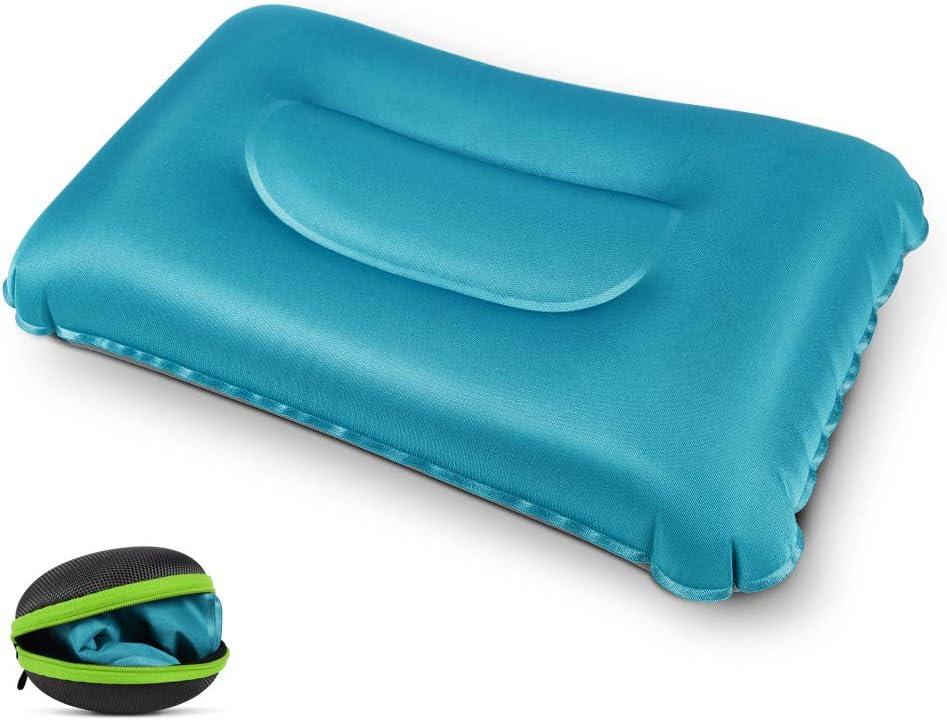 Roseo Koyoso Almohada Inflable de Acampada para el Cuello Almohadas Hinchable de Viaje con Estuche de Transporte
