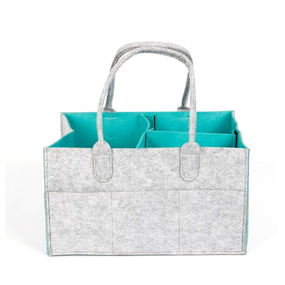 Baby Diaper Caddy Organizer: Portable Holder Bag for Changing Table and Car Travel, Nursery Essentials Storage Bins Tote and Car Organizer for Diapers and Wipes,Newborn Registry Must Haves by hongshi