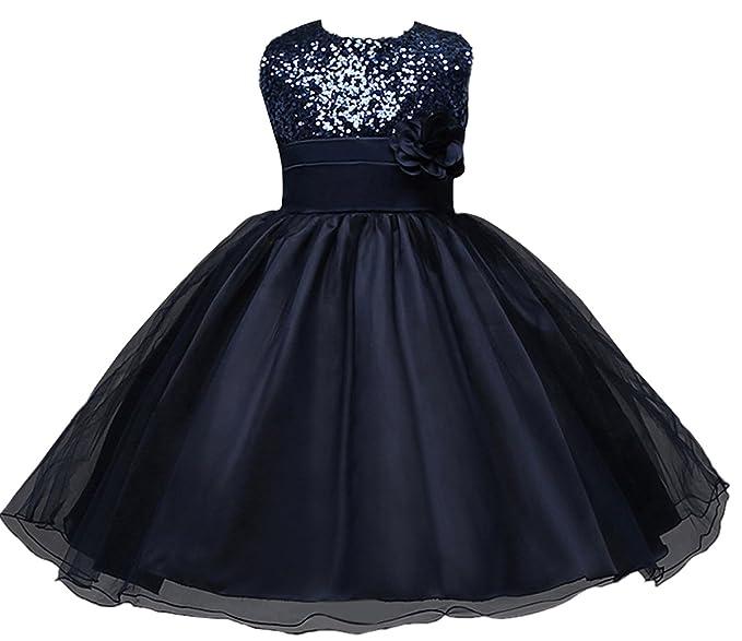 Happy Cherry - Vestido Princesa para Boda Fiesta Niñas Falda Infantil con Lentejuelas Falda Tutú de