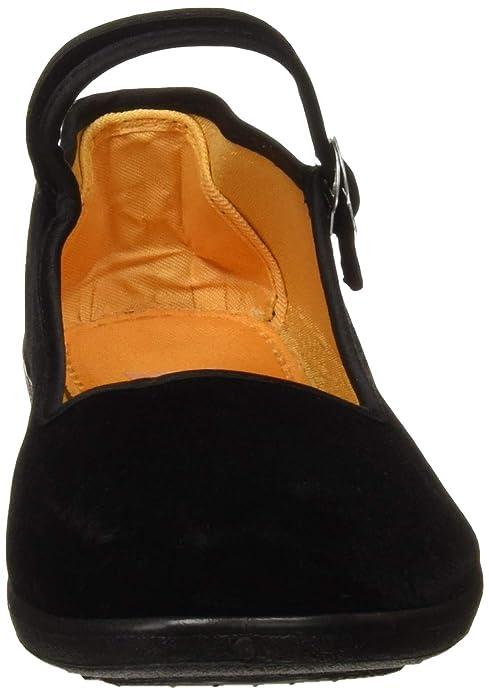 93937359dcc APIKA Women s Velvet Mary Jane Shoes Black Cottton Old Beijing Cloth Flats  Yoga Exercise Dance Shoes  Amazon.co.uk  Shoes   Bags