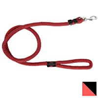 PetSutra Durable Rope Training Leash for Small, Medium & Large Sized Dogs, with Strong Brass Hook Multi Size & Multi Colored (22MM, Red)