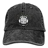 I Am Groot Cute Baby Groot Men's Black Adjustable Vintage Washed Denim Baseball Cap Dad Hat Trucker Cap