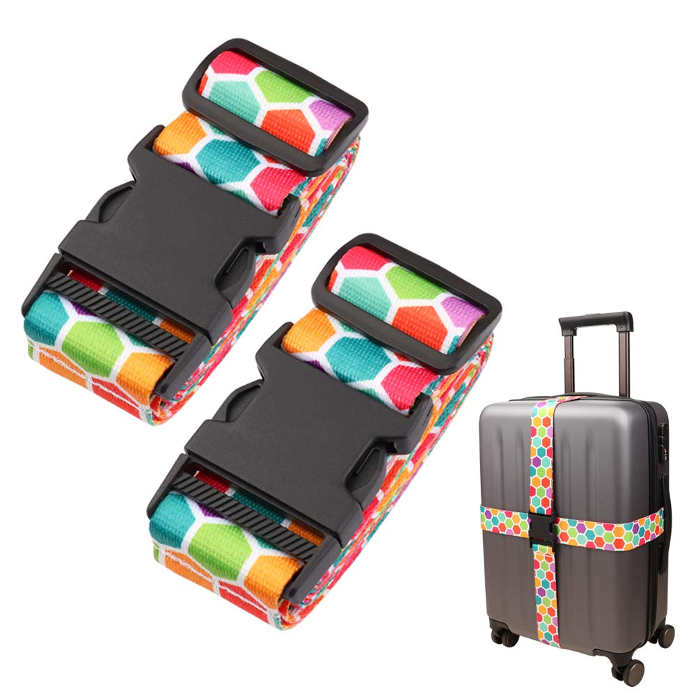 Adjustable Travel Luggage Strap Suitcase Belt Travel Bag Accessories 1.96 in W x 6.23 ft L(2Pack) by Gutsdoor