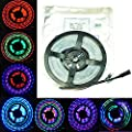 FAVOLCANO 5m 12V IP67 Tube waterproof 6803 IC Magic Dream Color LED Flexible RGB Strips 30LED/m SMD 5050 chasing Lights
