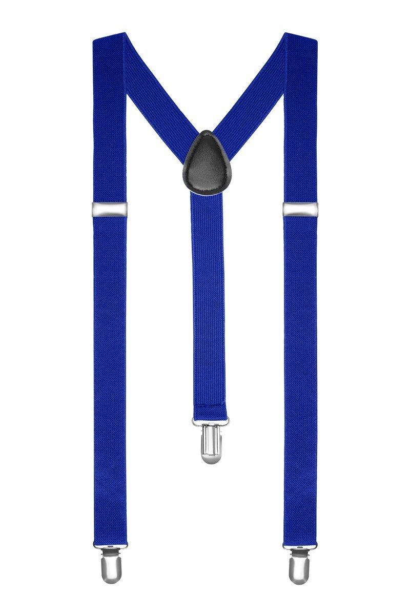 Boolavard TM Women's Clip-On Adjustable Pants Elastic Y-Back Suspender Braces Blue One Size Boolavard® TM CT-OSS7-B2BH