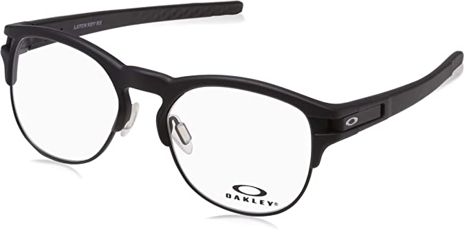 6f7008c58acc5 Image Unavailable. Image not available for. Color  OAKLEY LATCH KEY RX  OX8134 - 813401 EYEGLASSES SATIN BLACK 50MM