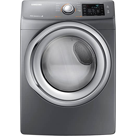 Samsung DV42H5200EP 7 5 Cu  Ft  Front-Load Electric Steam Dryer with Sensor  Dry, Platinum