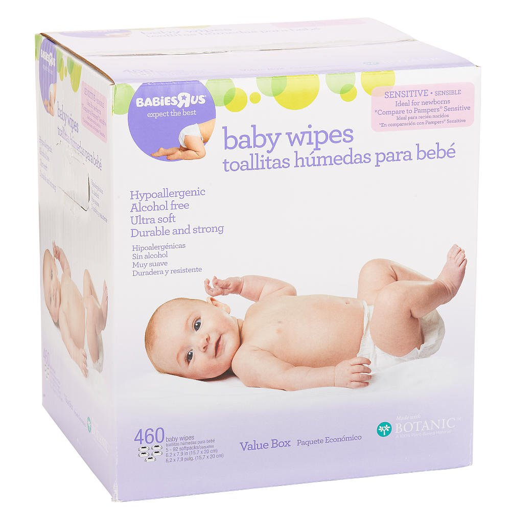 Amazon.com : Babies R Us Sensitive Unscented Spunlace Flip Top - 460 Ct : Bassinet Mattress Pads : Baby