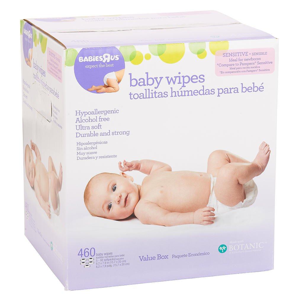Amazon.com : Babies R Us Sensitive Unscented Spunlace Flip Top - 460 Ct : Bassinet Mattress Pads : Baby