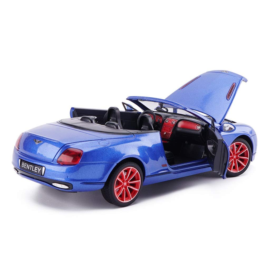 Auto-Modell 1.24 Bentley Continental GT Simulation Legierung Druckguss-Spielzeug Ornamente Sports Car Collection Schmuck 19x8x5.5CM (Farbe: weiß) yqaae (Color : Blue) Blue