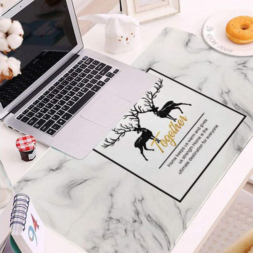 YUMUO Gaming Desk Pad,Microfiber Mouse Mat Desk Protector Waterproof Mat Writing Pad Desk Mat for Office and Home b 16x28inch