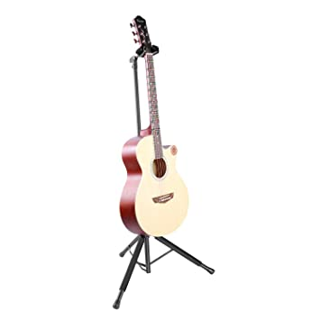 Neewer Soporte Trípode de Guitarra Durable Construcción de Metal con Altura Ajustable de 62-110cm Carga hasta 15kg para Guitarras Eléctricas, ...