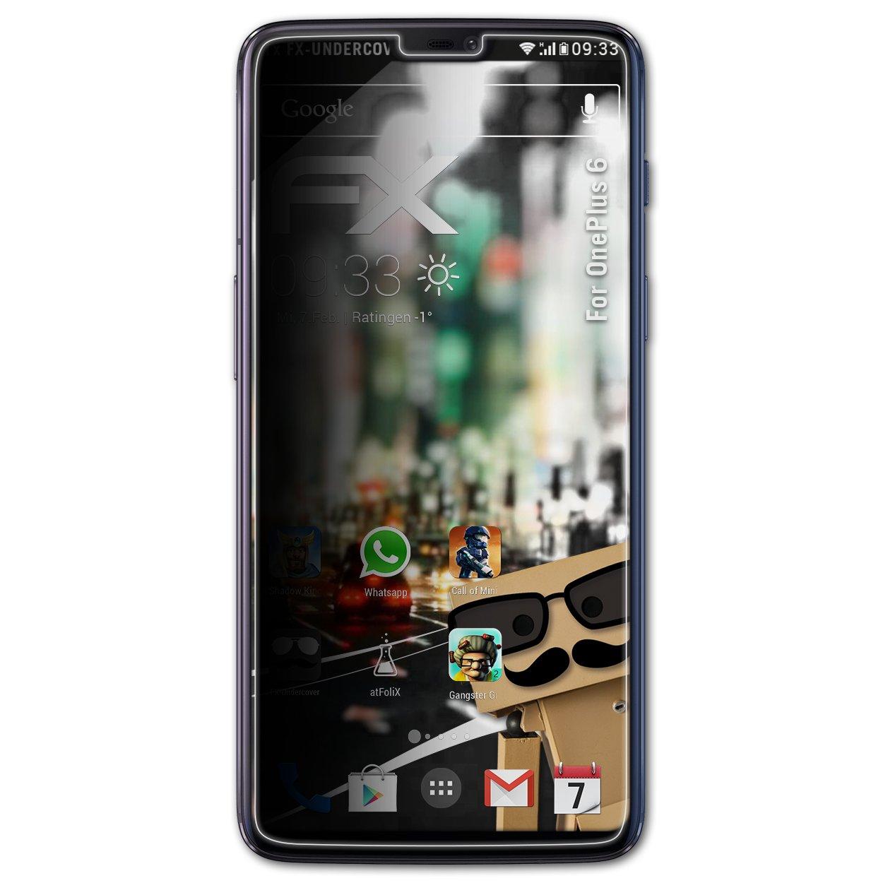 atFoliX Filtro de Privacidad Compatible con OnePlus 6 Película de ...