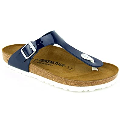 3f26a706504a4c Birkenstock Gizeh BF Lack Dress Blue LS Weiss  Amazon.co.uk  Shoes   Bags
