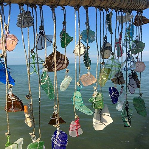 BohoBeach Glass Sun Catcher Eco Friendly Art Whimsical Driftwood Beach Wedding Swap Party Gift by Pier Beach Glass (Image #1)