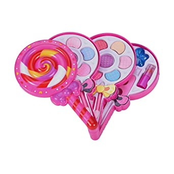 DedSecQAQ Makeup Set for Kids-Washable All-in-one Fully Beauty Fashion Kit-Butterfly and Kit-Candy Shape (Multicolor, A)