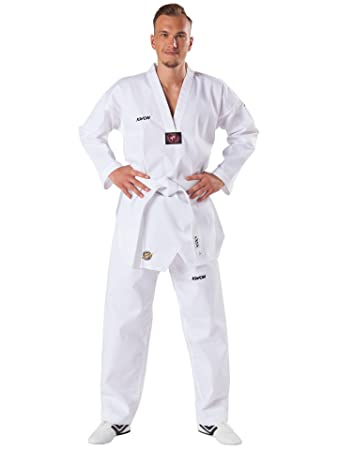 Dobok taekwondo Kwon victory col blanc
