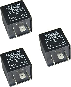 HOUTBY 3 X 3 Pin CF13 Electronic Car Vehicle Motorcycle Flasher Relay to fix LED light Hyper Flash Blink
