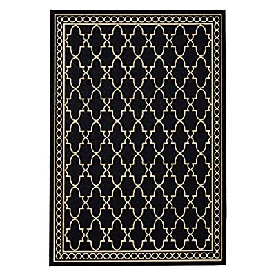 Safavieh Courtyard Collection CY5141C Blue and Beige Indoor/ Outdoor Area Rug