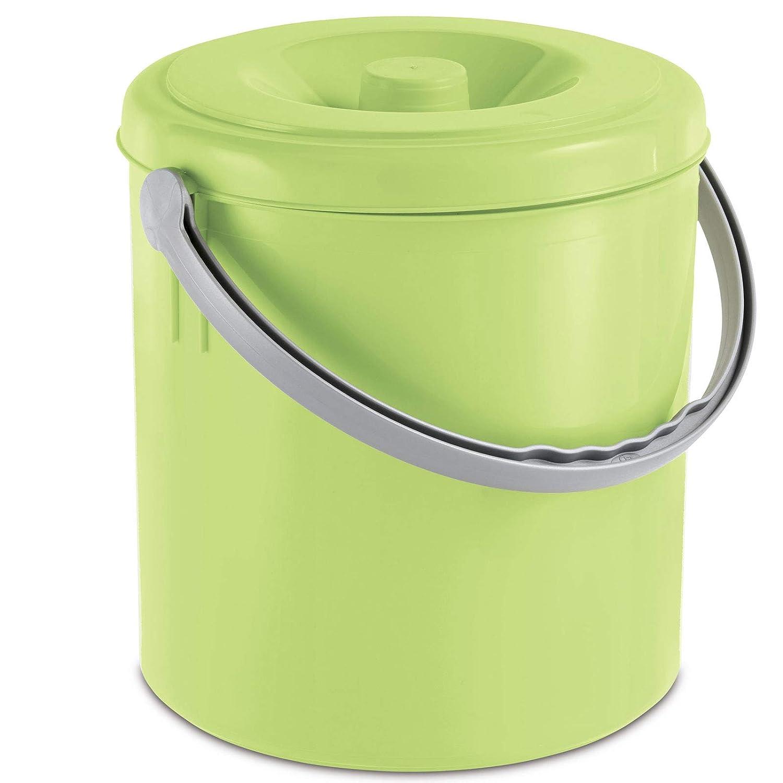 M/ülleimer 25 Liter mit Henkel und verschlie/ßbarem Deckel limette /• M/ülltonne Abfalleimer Eimer Papierkorb Abfallkorb Recycling 25L