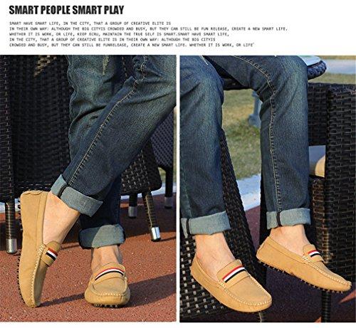 Yellow Mâle Casual Hommes Chaussures Cuir Lumino Appartements Mocassin Conduite Chaussures Daim Bureau Hommes Mocassins Printemps Cuir En wTFRxax6