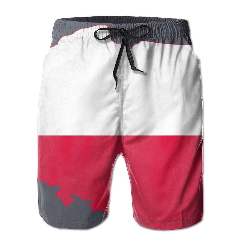 Poland Map Flag Mens Shorts Loose Summer Swimming Trunks Running ...