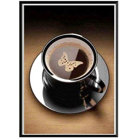 mosstars 5d DIY Diamond Painting Home Sweet Home Embroi derot Tazas de café Pintura Diamond Cross