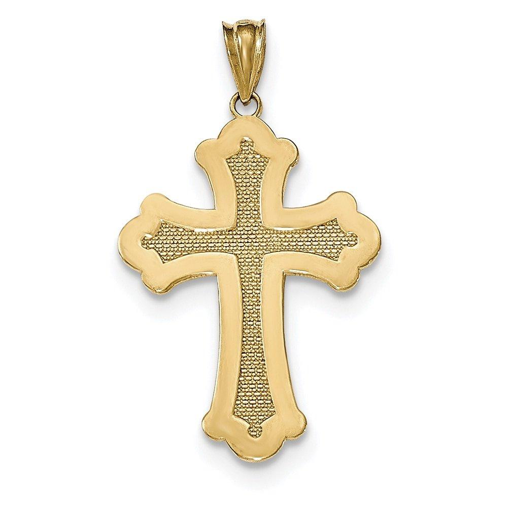 Lex /& Lu 14k Yellow Gold Polished Cross Pendant LAL78606