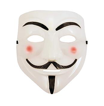 Labreeze White Plastic V For Vendetta Face Mask Purge Anonymous