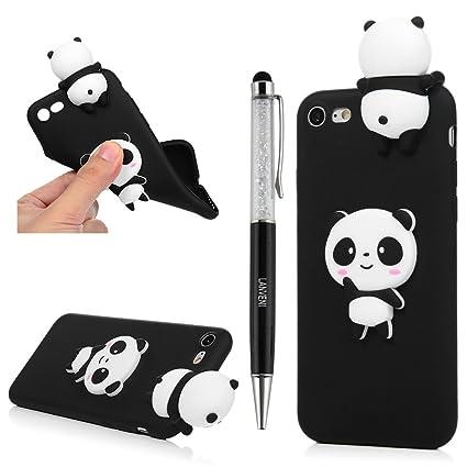 lowest price 21f30 b6a2f YOKIRIN iPhone 7 Case, iPhone 8 Case, 3D Handmade Cute Black Panda Jelly  Soft TPU Silicone Rubber Slim Fit Shockproof Anti-Scratch Skin Protective  ...