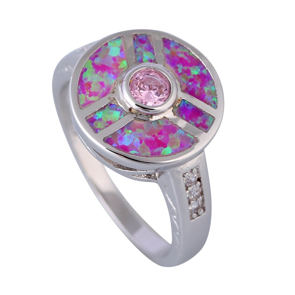 Rny Jewelry Cute jewelry Pink Fire Opal Fashion Vintage Jewelry For Women Engagement Wedding Rings