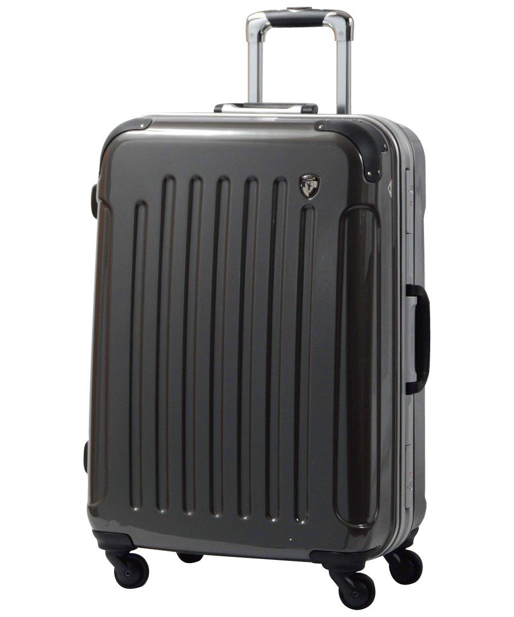 [グリフィンランド]_Griffinland TSAロック搭載 スーツケース 軽量 アルミフレーム ミラー加工 newPC7000 フレーム開閉式 B002972WC6 S(小)型|ルークガンメタ ルークガンメタ S(小)型