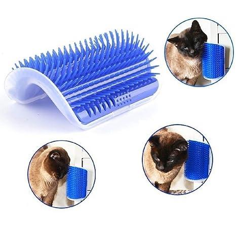 Beito Cepillo de esquina para mascotas, gatos, perros, autoaseo, esquina, masaje