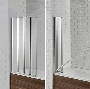 Aquadart AQ9357LS Venturi 6 Swiftseal - Mampara de baño (semitransparente, 4 pliegues, cristal transparente de 6 mm, para zurdos): Amazon.es: Bricolaje y herramientas