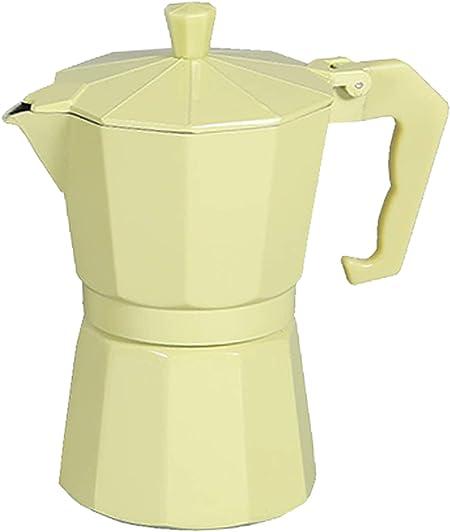 Cafetera italiana clásica aluminio revestido de mármol 6 Taza | (17 x 11 x 19 cm) (amarilla): Amazon.es: Hogar