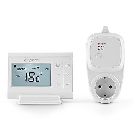 Oneconcept STF-65 • Termostato inalámbrico programable para radiador • Ahorra hasta el 30%