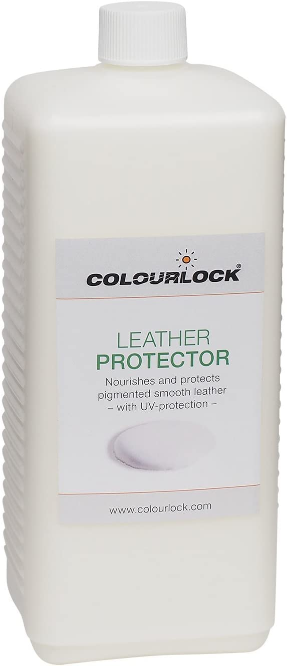 COLOURLOCK Leather Protector - Feed, Cream, Restorer for car Leather interiors, Furniture, Bags and Clothing (1Litre)