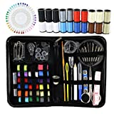 Arts & Crafts : Sewing Kit, Emergency Travel Sewing kit 120 Premium Sewing Supplies with Tread, Sewing Pins, Needles, Tape Measure and Accessories for kids, Beginners, Adults,Camping