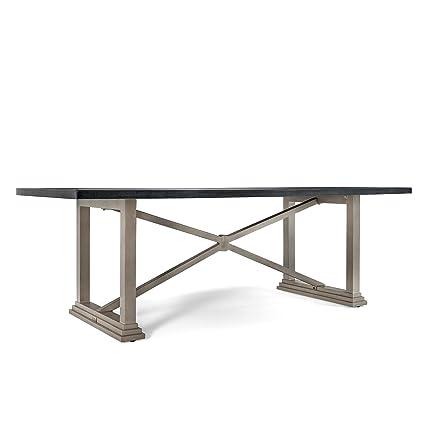 Amazoncom Blue Oak Outdoor Saylor Patio Furniture Stone - Stone top rectangular dining table