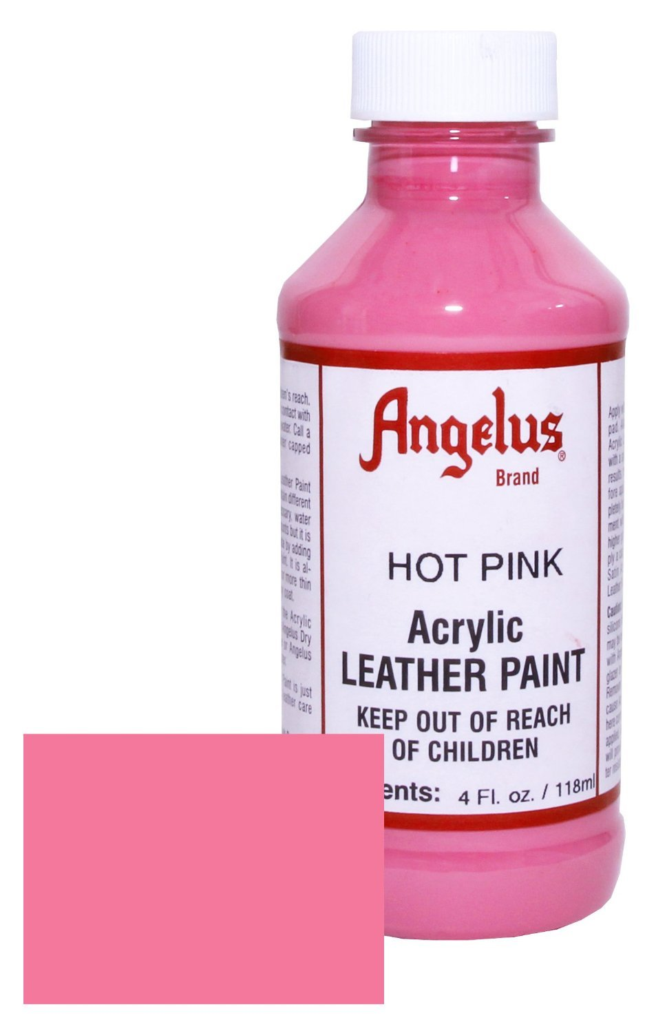 Bright Pink Paint Amazoncom Angelus Leather Paint 4oz Hot Pink